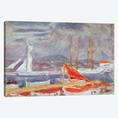 The Port At St. Tropez, C.1914 Canvas Print #PIB164} by Pierre Bonnard Canvas Artwork