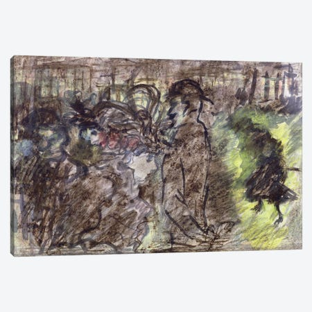 The Square, Evening, 1899 Canvas Print #PIB172} by Pierre Bonnard Canvas Wall Art