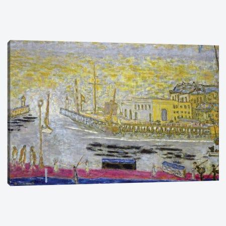 Trouville, The Exit To The Port, 1938-45 Canvas Print #PIB185} by Pierre Bonnard Canvas Art