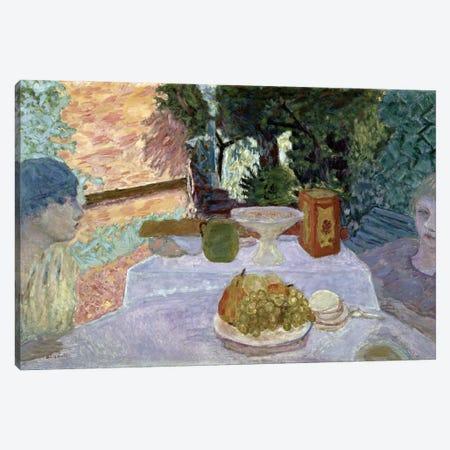 Breakfast Canvas Print #PIB18} by Pierre Bonnard Canvas Wall Art