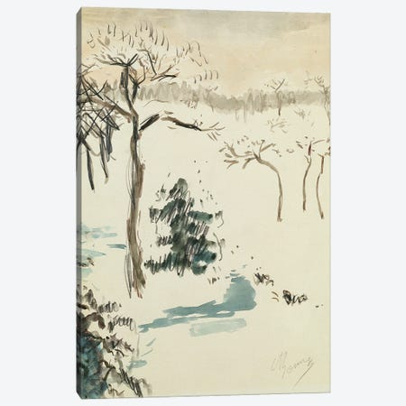Winter Landscape, 1910 Canvas Print #PIB192} by Pierre Bonnard Canvas Art