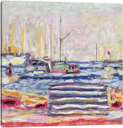 A Port In Normandy, C.1930 Canvas Art Print