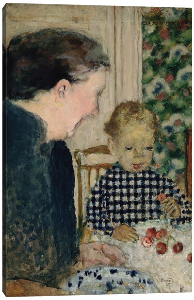 Child Eating Cherries, 1895 Canvas Art Print