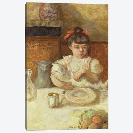 Child With Cats, C.1906 Canvas Print #PIB23} by Pierre Bonnard Art Print