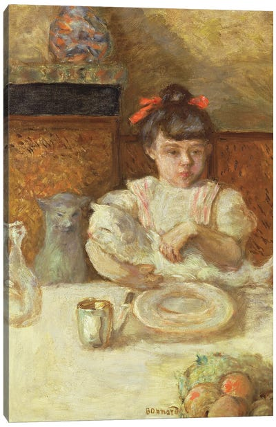 Child With Cats, C.1906 Canvas Art Print