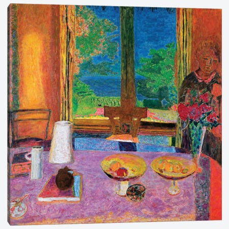 Dining Room On The Garden, 1934-35 Canvas Print #PIB29} by Pierre Bonnard Canvas Print