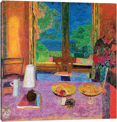 Dining Room On The Garden, 1934-35 Canvas Art Print