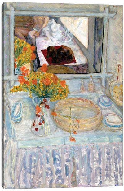 Dressing Table With Mirror, C.1913 Canvas Art Print
