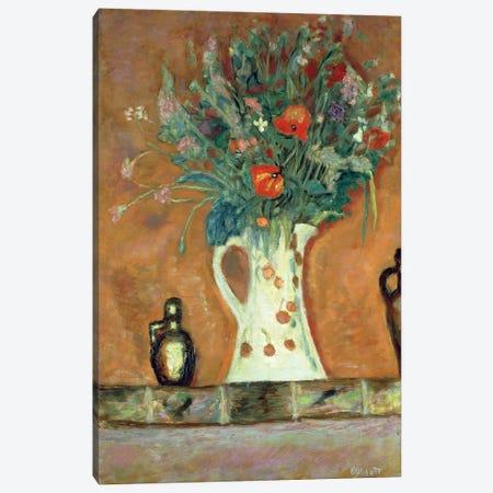 Flowers On A Mantelpiece, 1913 Canvas Print #PIB37} by Pierre Bonnard Canvas Print
