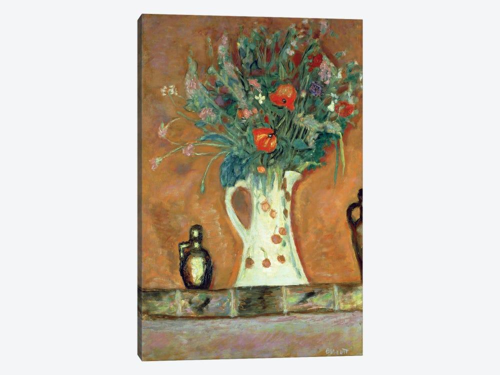 Flowers On A Mantelpiece, 1913 by Pierre Bonnard 1-piece Canvas Artwork