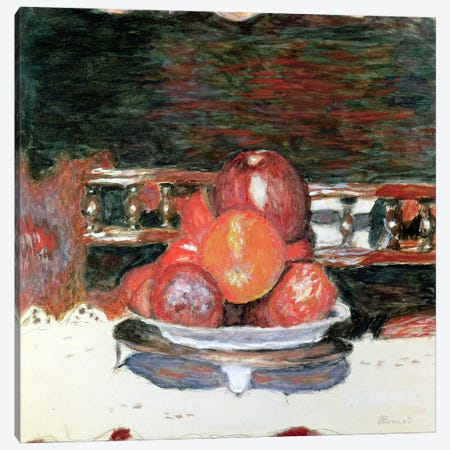 Fruit, Dark Harmony, C.1930 Canvas Print #PIB38} by Pierre Bonnard Canvas Artwork