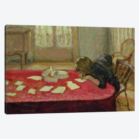 Girl Writing, 1908 Canvas Print #PIB40} by Pierre Bonnard Canvas Art Print