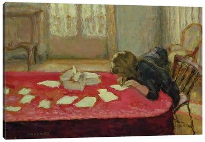 Girl Writing, 1908 Canvas Art Print