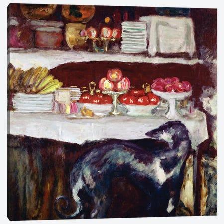 Greyhound And Still Life, C.1920-25 Canvas Print #PIB42} by Pierre Bonnard Canvas Art Print