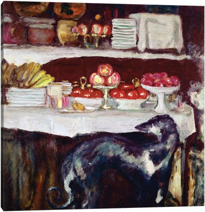 Greyhound And Still Life, C.1920-25 Canvas Art Print