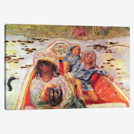 In The Boat, Detail Of The Girls, C.1907 Canvas Print #PIB47} by Pierre Bonnard Canvas Artwork