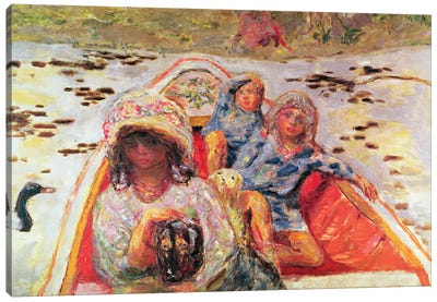 In The Boat, Detail Of The Girls, C.1907 Canvas Art Print