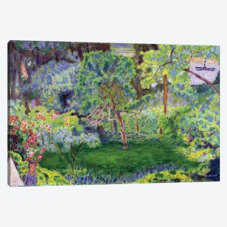 Landscape With A Barge, C.1930 Canvas Print #PIB56} by Pierre Bonnard Canvas Print
