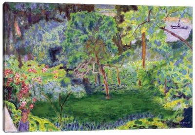 Landscape With A Barge, C.1930 Canvas Art Print