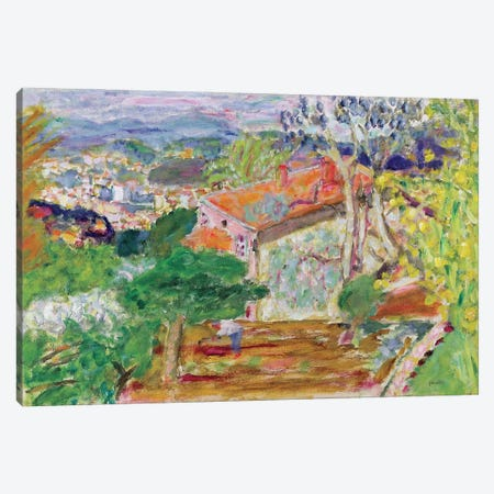 Landscape With A Red House, C.1942 Canvas Print #PIB57} by Pierre Bonnard Art Print