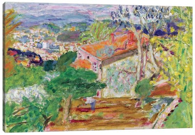 Landscape With A Red House, C.1942 Canvas Art Print