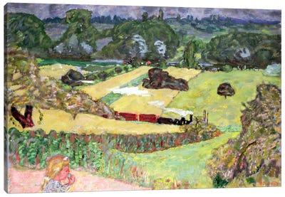Landscape With Freight Train, 1909 Canvas Art Print
