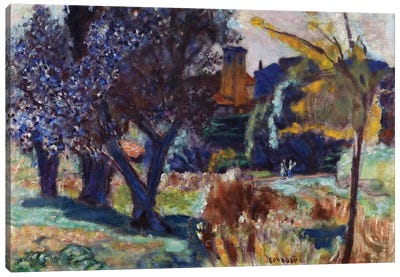 Landscape With Olive Trees And A Chapel, C.1924 Canvas Art Print