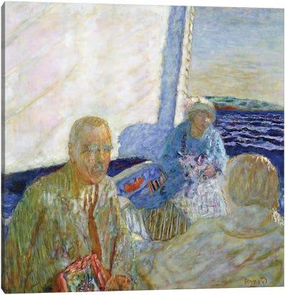 At Sea, 1924 Canvas Art Print