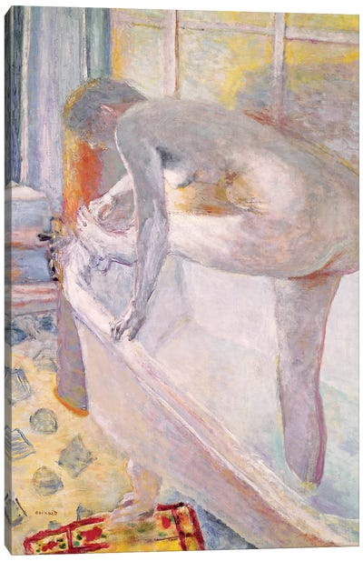 Large Nude In The Bathtub, 1924 Canvas Art Print