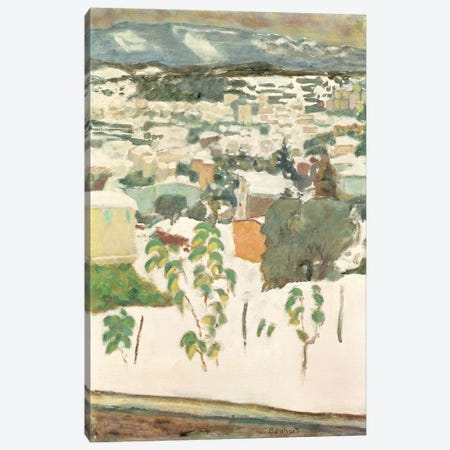 Le Cannet In The Snow, C.1927 Canvas Print #PIB64} by Pierre Bonnard Canvas Wall Art