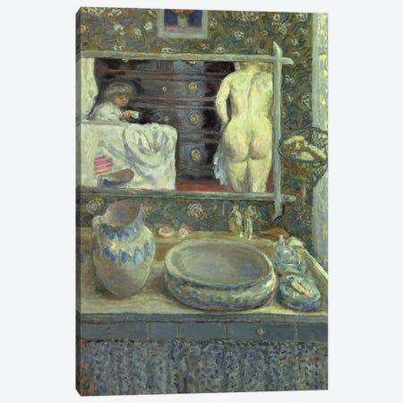 Mirror On The Wash Stand, C.1908 Canvas Print #PIB73} by Pierre Bonnard Canvas Art
