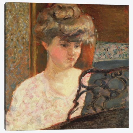 At The Piano, 1902 Canvas Print #PIB7} by Pierre Bonnard Canvas Artwork