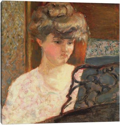At The Piano, 1902 Canvas Art Print