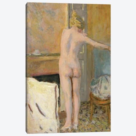 Nude In Front Of A Mantelpiece Canvas Print #PIB82} by Pierre Bonnard Canvas Art Print
