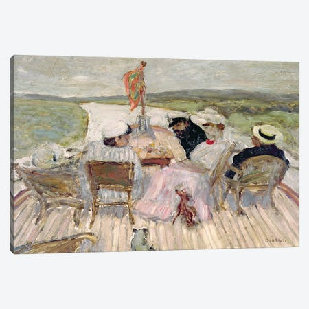 On The Yacht Canvas Print #PIB88} by Pierre Bonnard Canvas Art Print