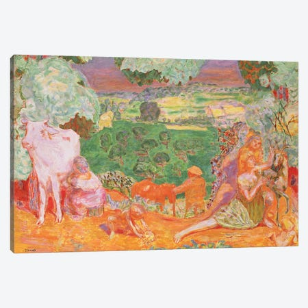 Pastoral Symphony, 1916-20 Canvas Print #PIB90} by Pierre Bonnard Canvas Wall Art