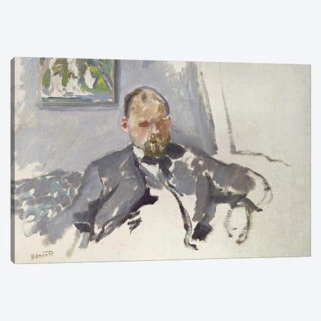 Portrait Of Ambroise Vollard, C.1904 Canvas Print #PIB93} by Pierre Bonnard Canvas Artwork