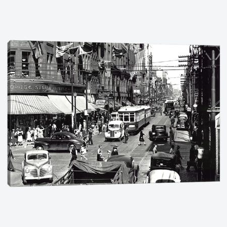 Yonge Street, Toronto, Vintage Photo 3-Piece Canvas #PIC110} by PI Collection Canvas Art Print