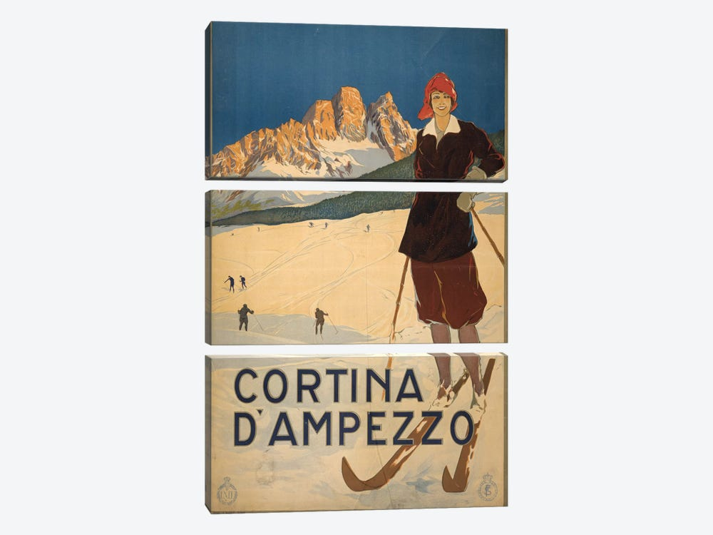 Cortina d'Ampezzo by PI Collection 3-piece Canvas Art Print