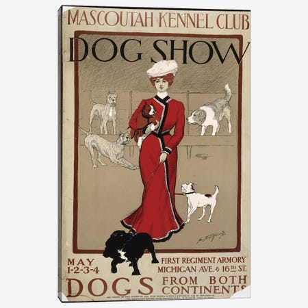 Dog Show Canvas Print #PIC29} by PI Collection Canvas Wall Art