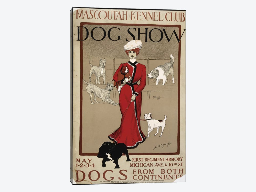 Dog Show by PI Collection 1-piece Canvas Wall Art