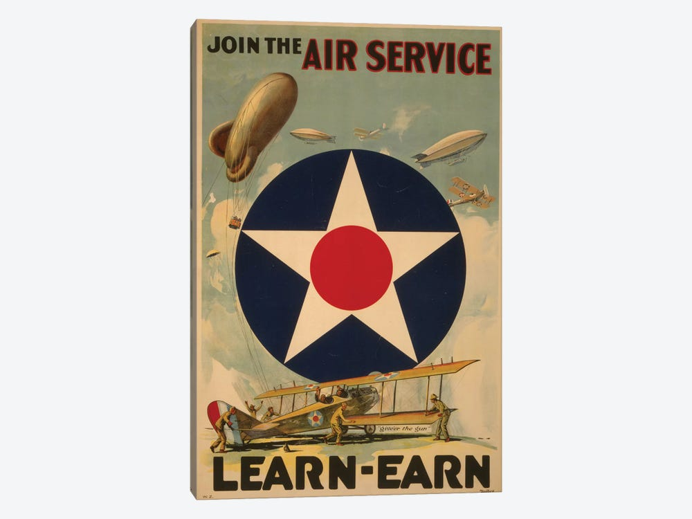 Air Service by PI Collection 1-piece Canvas Art Print