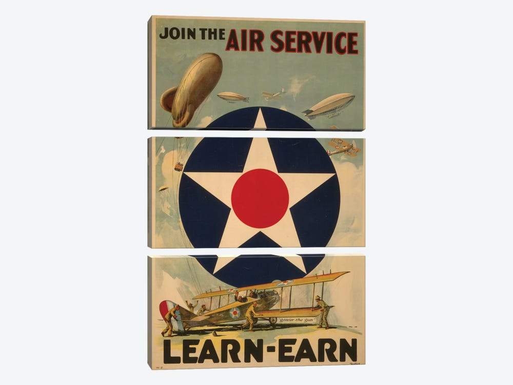 Air Service by PI Collection 3-piece Canvas Art Print