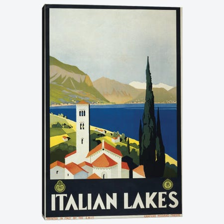 Italian Lakes Canvas Print #PIC50} by PI Collection Art Print