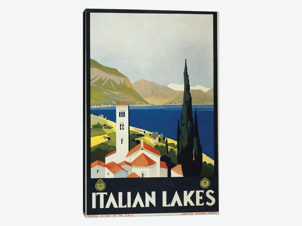 Italian Lakes by PI Collection 1-piece Canvas Art