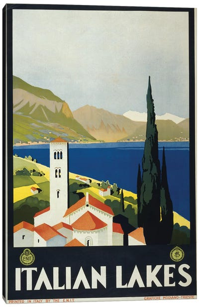 Italian Lakes Canvas Art Print
