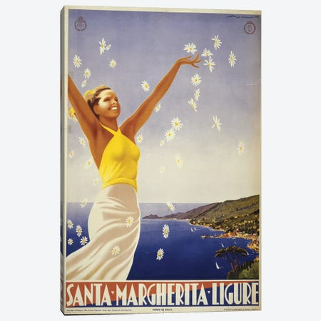 Santa Margherita, Italy Travel Poster Canvas Print #PIC81} by PI Collection Canvas Art