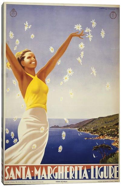 Santa Margherita, Italy Travel Poster Canvas Art Print