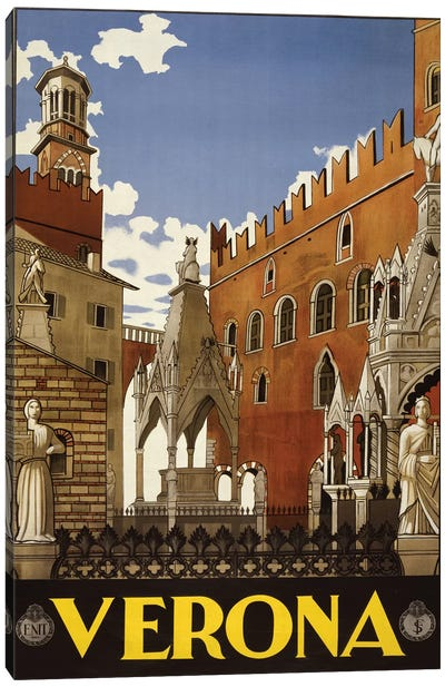 Verona, Italy Travel Poster Canvas Art Print