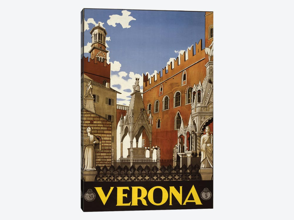 Verona, Italy Travel Poster by PI Collection 1-piece Art Print